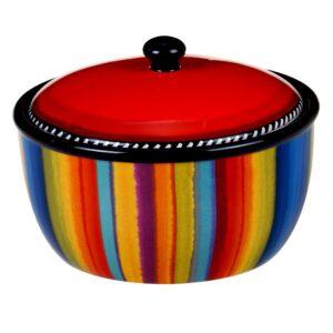 Certified International Sierra 8.25 in. Multicolored Bean Pot