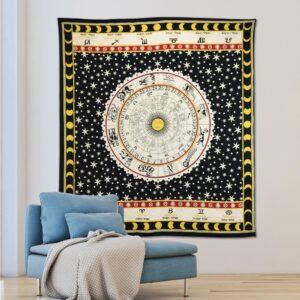 WallPops Nisha Black Wall Tapestry