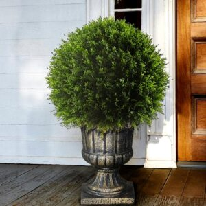 National Tree Company 27 in. Upright Juniper Ball Topiary Tree in a Decorative Urn