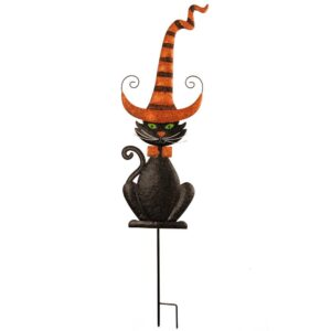 National Tree Company 46 in. Black Halloween Cat Ground Stake