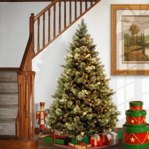 National Tree Company 7 ft. Carolina Pine Artificial Christmas Tree with Clear Lights