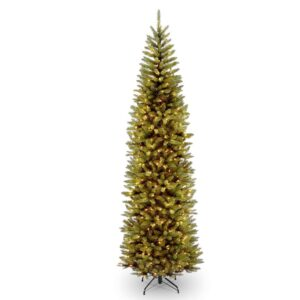 National Tree Company 10 ft. Kingswood Fir Pencil Artificial Christmas Tree with Clear Lights