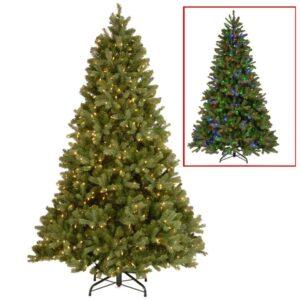National Tree Company 10 ft. Downswept Douglas Fir Artificial Christmas Tree with Dual Color LED Lights