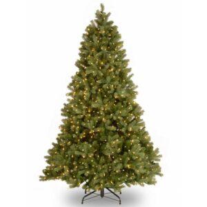 National Tree Company 7-1/2 ft. Feel Real Downswept Douglas Fir Hinged Tree with 1000 Clear Lights