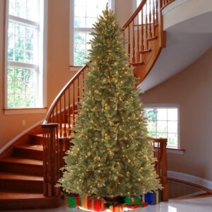 National Tree Company 9 ft. Feel Real Tiffany Fir Slim Hinged Artificial Christmas Tree with 800 Clear Lights