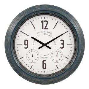 La Crosse Technology 18 In. Hamilton Indoor/Outdoor Metal Analog Quartz Clock