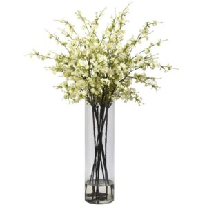 Nearly Natural Giant Cherry Blossom Arrangement in White