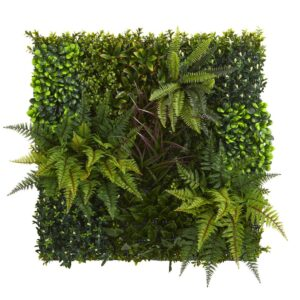 Nearly Natural Indoor/Outdoor 29in. x 29in. Artificial Living Wall UV Resistant
