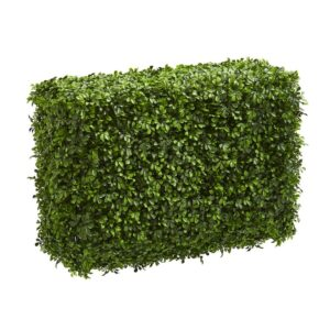 Nearly Natural Indoor 30 in. Eucalyptus Artificial Hedge