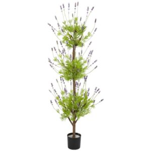 Nearly Natural 4ft. Green Lavender Topiary Artificial Tree