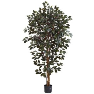 Nearly Natural 6 ft. Capensia Ficus Tree
