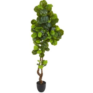 Nearly Natural 78 in. Fiddle Leaf Artificial Tree (Real Touch)