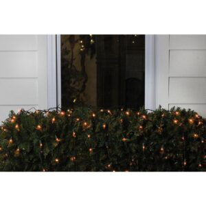 Northlight 4 ft. x 6 ft. Orange LED Net Style Christmas Lights with Green Wire