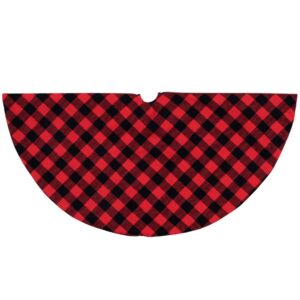 Northlight 20 in. Red and Black Buffalo Plaid Mini Christmas Tree Skirt