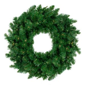 Northlight 36 in. Warm White LED Lights Pre-Lit Twin Lakes Fir Artificial Christmas Wreath