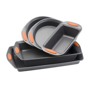 Rachael Ray Oven Lovin' 5-Piece Gray and Orange Bakeware Set