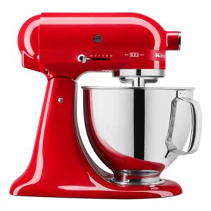KitchenAid 100-Year Limited Edition Queen of Hearts 5 Qt. 10-Speed Passion Red Stand Mixer