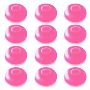 LUMABASE 1.25 in. D x 0.875 in. H x 1.25 in. W Pink Floating Blimp Lights (12-Count)