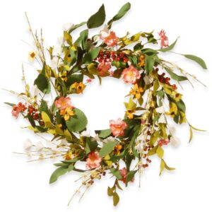 National Tree Company 22 in. Flower Wreath