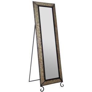 Pinnacle Oversized Antique Bronze Metal Modern Mirror (66.5 in. H X 20.1 in. W)