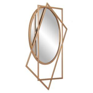 Pinnacle Medium Round Gold Modern Mirror (24 in. H x 21 in. W)