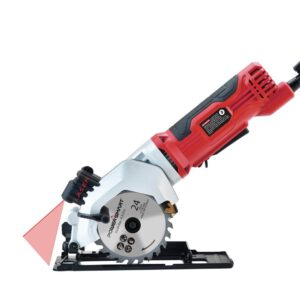 PowerSmart 4-1/2 in. 4 Amp Electric Compact Circular Saw