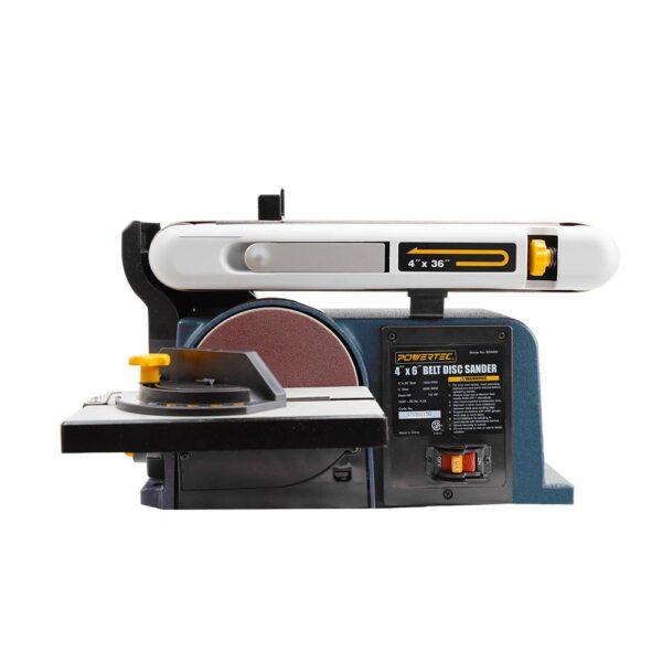 POWERTEC Belt Disc Sander for Woodworking, 4 in. x 36 in. Belt Sander with 6 in. Sanding Disc
