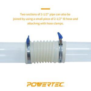 POWERTEC 2-1/2 in. x 36 in. Long Clear Pipe