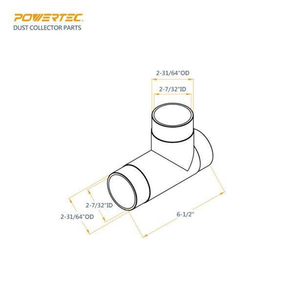 POWERTEC 2-1/2 in. T-Fitting