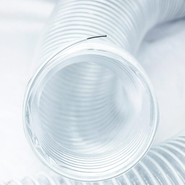 POWERTEC 5 in. x 10 ft. PVC Flexible Dust Collection Hose in Clear
