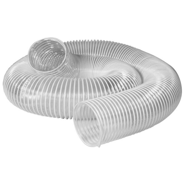 POWERTEC 6 in. x 10 ft. PVC Flexible Dust Collection Hose in Clear