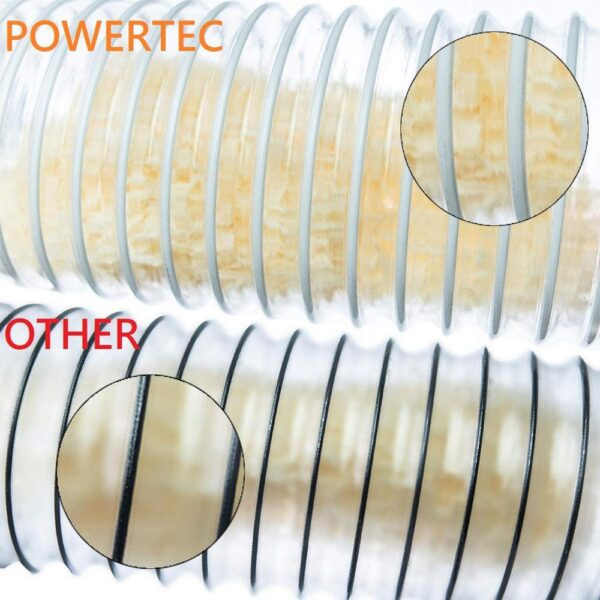 POWERTEC 6 in. x 5 ft. Clear PVC Flexible Dust Collection Hose