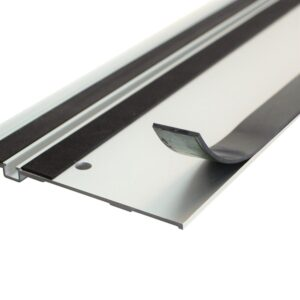POWERTEC 55 in. Aluminum Track Saw Guide Rail Compatible with Makita or Festool Track Saws