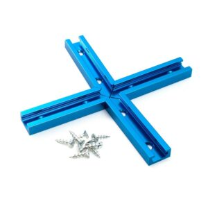POWERTEC T-Track Intersection Kit with Wood Screws