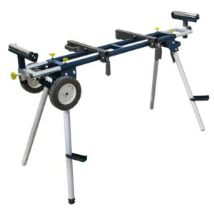 POWERTEC Deluxe Miter Saw Stand with Wheels and 110-Volt Power Outlet
