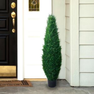 Pure Garden 41 in. Faux Potted Artificial Cyprus Tree