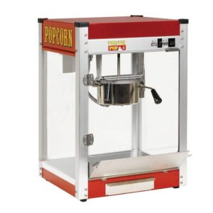Paragon Theater Pop 4 oz. Red Stainless Steel Countertop Popcorn Machine