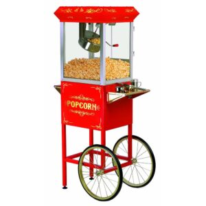 Elite Deluxe 8 oz. Kettle Popcorn Trolley in Red