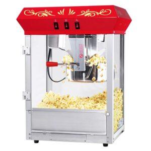Great Northern 850-Watt 8 oz. Red Foundation Style Antique Popcorn Popper