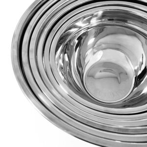 Elite 12-Piece Stainless Steel Colored Mixing Bowl with Tops