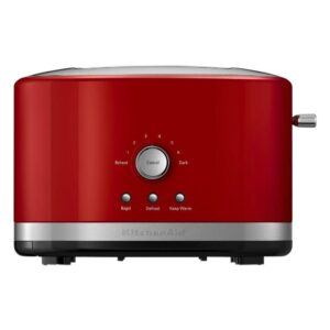 KitchenAid Empire 2-Slice Red Wide Slot Toaster with Crumb Tray