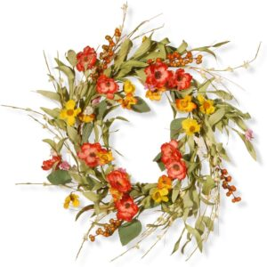 National Tree Company 22 in. Spring Flower Wreath