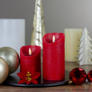 Northlight 6 in. Red Flameless Battery Operated Christmas Decor Candle