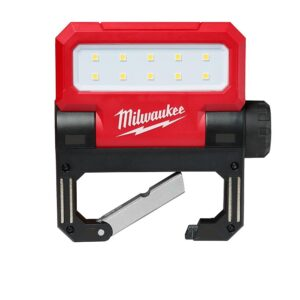 Milwaukee 550 Lumens LED Rechargeable Pivoting Flood Light & 550 Lumens LED Rechargeable Pivoting Flood Light (2-Pack)