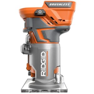 RIDGID 18-Volt Cordless Brushless 1/4 in. Compact Router with 1.5 Ah Lithium-Ion Battery