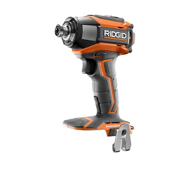 RIDGID 18-Volt Lithium-Ion Cordless Brushless 1/4 in. 3-Speed Impact Driver with Belt Clip (Tool Only)