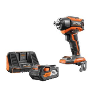 RIDGID 18-Volt OCTANE 6-Mode 1/4 in. Impact Drill with 18-Volt Lithium-Ion 4.0 Ah Battery and Charger Kit
