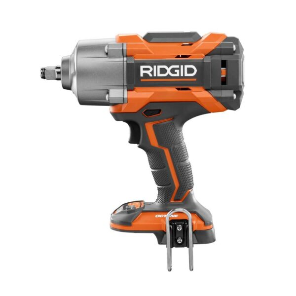 RIDGID 18-Volt OCTANE Cordless Brushless 1/2 in. High Torque 6-Mode Impact Wrench (Tool-Only) with Belt Clip