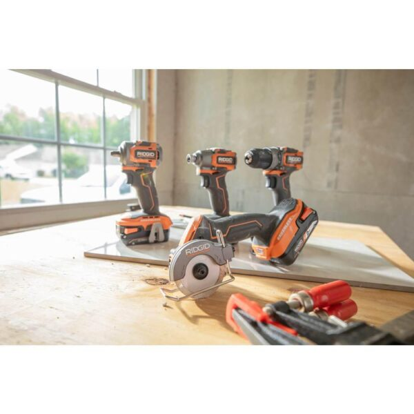 RIDGID 18-Volt SubCompact Lithium-Ion Cordless Brushless 3/8 in. Impact Wrench (Tool Only) with Belt Clip