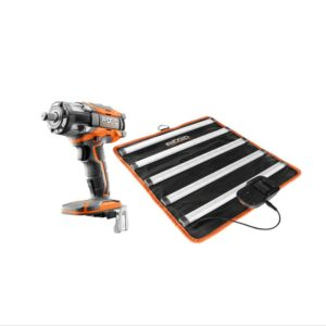 RIDGID 18-Volt Lithium-Ion Brushless Cordless OCTANE 1/2 in. Impact Wrench and LED Mat Light Kit (Tools Only)